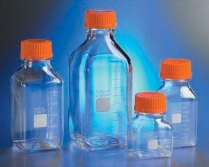 Corning® Square Storage Bottles, Polycarbonate - Corning