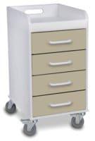 Compact 4 Drawer Locking Cart