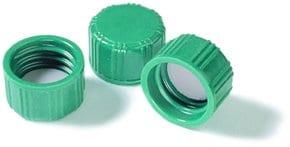 Screw cap, solid top with PTFE liner, pkg 100