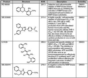 MAP Kinase Inhibitor Set II - Calbiochem | Sigma-Aldrich on mtor inhibitor, protein kinase inhibitor, pi 3 kinase inhibitor, tyrosine kinase inhibitor, jak kinase inhibitor,