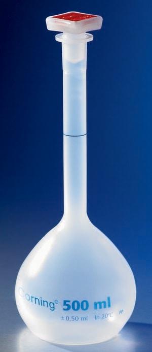 Corning® reusable volumetric flask, Class B