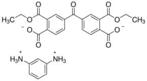 4,4′-Carbonylbis[(2-ethoxycarbonyl)benzoic acid], 1,3-phenylenediamine salt