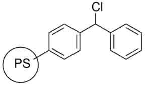 Benzhydryl chloride, polymer-bound
