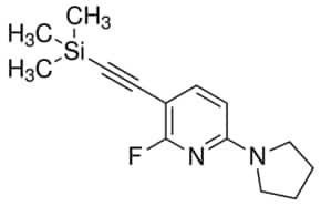2-Fluoro-6-(pyrrolidin-1-yl)-3-((trimethylsilyl)ethynyl)pyridine