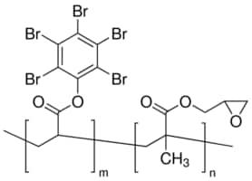 Poly(pentabromophenyl acrylate-co-glycidyl methacrylate)