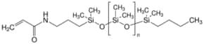 Poly(dimethylsiloxane), monoacrylamidopropyl terminated